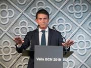 Manuel Valls will im nächsten Mai bei den Kommunalwahlen in Barcelona antreten (Bild: KEYSTONE/EPA EFE/QUIQUE GARCIA)