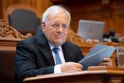 Bundesrat Johann Schneider-Ammann im Ständerat. (Bild: KEYSTONE/Anthony Anex (Bern, 25. September 2018))