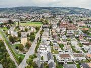 Ein Drohnenbild der zukünftigen Stadt Weinfelden. (Bild: Reto Martin)