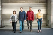 Das Albin Brun Trio (Patricia Draeger, Claudio Strebel, Albin Brun) mit Isa Wiss (rechts). (Bild: PD)