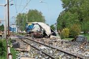 Am Bahnübergang Rietli in Goldach blieb vor fünf Jahren ein Lastwagen stecken, der Zug konnte nicht mehr anhalten. (Bild: Samuel Rothenfluh)