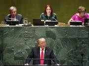 US-Präsident Trump sprach vor der Uno-Vollversammlung in New York von einer «Ideologie der Globalisierung», die von den USA abgelehnt werde. (Bild: KEYSTONE/EPA/JUSTIN LANE)