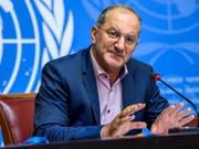 Laut WHO-Nothilfekoordinator Peter Salama ist der Einsatz in Kongo gefährlich. (Bild: Keystone/MARTIAL TREZZINI)