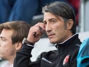Murat Yakin, der neue Sion-Trainer, darf am Donnerstag im Heimspiel gegen den FC Zürich auf der Bank sitzen (Bild: KEYSTONE/PETER SCHNEIDER)