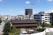 Das Suurstoffi Areal in Rotkreuz entstand ein neues Quartier. (Bild: Werner Schelbert (26. Juli 2018))