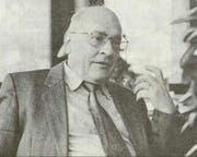 Hermann Kündig in seiner politisch aktiven Zeit (Archivbild LZ, 1994)