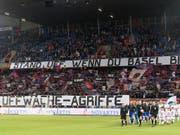 Mit ihrem Auftritt erfüllten die Basler die Vorgabe der Fans (Bild: KEYSTONE/ALESSANDRO DELLA VALLE)