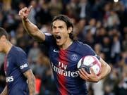Edinson Cavani trägt sich beim 4:1-Heimsieg von Paris Saint-Germain gleich zweimal in die Torschützenliste ein (Bild: KEYSTONE/AP/MICHEL EULER)