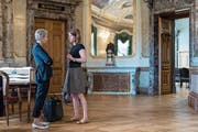 Ständeratspräsidentin Karin Keller-Sutter (links) und FDP-Präsidentin Petra Gössi. (Bild: Alessandro della Valle/Keystone (Bern, 12. Juni 2017))