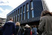 Der Gemeindesaal am Tag der Eröffnung. (Bild: Stefan Kaiser (Steinhausen))