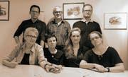 Der Vorstand der Theatergruppe Eigägwächs; hinten von links: Marco Schnüriger, Martin Blaser und Thomas Gasser; vorne von links: Anita Schuler, Cornelia Tramonti, Manuela Fedier und Beatrice Gasser. (Bild: PD (Altdorf, 21. September 2018))