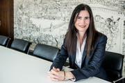Lernte die Schweiz einst in den Ferien kennen. Heute verantwortet Claudia Gasser als Regionaldirektorin die Geschäfte der UBS in der Zentralschweiz. (Bild: Nadia Schärli)