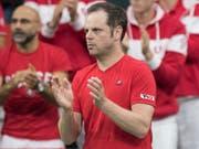 Davis-Cup-Captain Severin Lüthi und sein Team erhielten keine Wild Card für das Finalturnier 2019 (Bild: KEYSTONE/PETER SCHNEIDER)