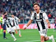 Paulo Dybala brachte Juventus mit einem sehenswert verwerteten Abpraller in die Erfolgsspur (Bild: KEYSTONE/AP ANSA/ALESSANDRO DI MARCO)