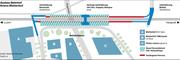 Geplante Ausbauten rund um den Bahnhof Mattenhof Kriens. Grafik: jn