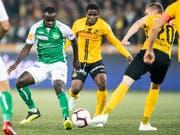 Die Young Boys gehen auch im Heimspiel gegen St. Gallen als Sieger vom Platz (Bild: KEYSTONE/PATRICK HUERLIMANN)