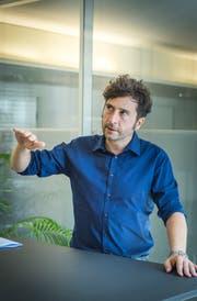 Geschäftsführer Fabio Müller in den Räumen der Stiftung Zukunft Thurgau in Weinfelden. (Bild: Andrea Stalder)