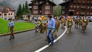 Die Spirgner Kilbi 2016 mit dem mit viel Herzblut gestalteten Alpabzug (Bild: Franz Imholz)