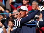 In alter Stärke eine Teamstütze für die USA am Ryder Cup: Tiger Woods (Bild: KEYSTONE/EPA/IAN LANGSDON)