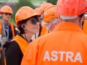 Energiewende, Tunnels und Strassen: Die abtretende Bundesrätin Doris Leuthard wird von allen Seiten für ihre Verdienste gewürdigt. (Bild: KEYSTONE/URS FLUEELER)