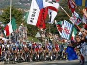 2009 waren in Mendrisio letztmals Strassen-Weltmeisterschaften in der Schweiz ausgetragen worden (Bild: KEYSTONE/KARL MATHIS)