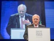 Bundesrat Johann Schneider-Ammann war bereits bei der ersten Austragung des Swiss Media Forum in Luzern dabei und kehrte vor seinem Rückzug aus der Landesregierung noch einmal zurück. (Bild: KEYSTONE/URS FLUEELER)