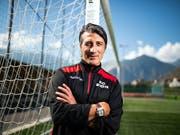 Darf gegen den FC Zürich erstmals auf der Sittener Trainerbank sitzen: Coach Murat Yakin (Bild: KEYSTONE/OLIVIER MAIRE)