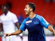 Salim Khelifi freut sich über sein 1:0 für den FCZ (Bild: KEYSTONE/VALENTIN FLAURAUD)