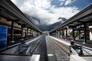 Norm-Perrondächer beim Bahnhof Engelberg. Bild: Corinne Glanzmann (25. August 2015)