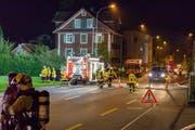 Während dem Einsatz war die Thorenbergstrasse für den Verkehr gesperrt (Bild: Feuerwehr Stadt Luzern)