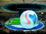 Favorit für die EM 2024: Deutschland mit dem Olympiastadion in Berlin (Bild: KEYSTONE/AP dpa/SOEREN STACHE)