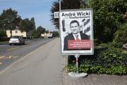 Wahlplakat von André Wicki. (Bild: Daniel Frischherz, Zug, 10.9. 2018)