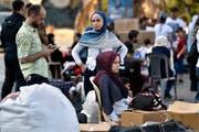 Syrische Flüchtlinge bereiten sich darauf vor, Beirut zu verlassen (Bild: Wael Hamzeh/Epa, 17 September 2018)