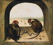 1562 malte Pieter Bruegel diese beiden Meerkatzen auf Eichenholz. Der Künstler setzte die Grundstimmung von Gefangenschaft und stillen Sehnsucht der wehrlosen Tiere meisterhaft um.