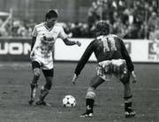 Das Trikot von Harald Gämperle blieb in über 250 Meisterschaftsspielen – davon fast 100 für den FCSG – selten sauber. (Bild: Hanspeter Schiess)
