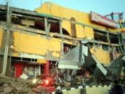 Zerstörte Schopping Mall in Donggala auf der indonesischen Insel Sulawesi. (Bild: Keystone/EPA NATIONAL AGENCY DISASTER MGT./BNPB HANDOUT)
