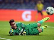 Diego Benaglio kann die Niederlage bei Saint-Etienne nicht verhindern (Bild: KEYSTONE/AP/LUIS VIEIRA)