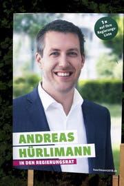 Wahlplakatvon Andreas Hürlimann. (Bild: Werner Schelbert, Zug, 25.9.2018)