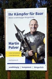 Wahlplakat von Martin Pulver. (Bild: Werner Schelbert, Baar, 25.9. 2018)
