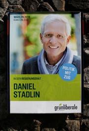 Wahlplakat von Daniel Stadlin. (Bild: Stefan Kaiser, Zug, 26.9.2018)