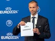Laut türkischen Medien soll UEFA-Präsident Aleksander Ceferin Schuld sein am Scheitern der türkischen Kandidatur für die EM 2024 (Bild: KEYSTONE/MARTIAL TREZZINI)