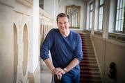 Chefdirigent Modestas Pitrenas hat seine erste Saison in St. Gallen am Donnerstag glänzend gestartet: (Bild: Ralph Ribi)