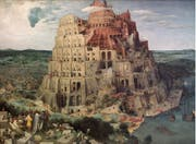 Eines der berühmtesten Werke von Pieter Bruegel d.Ä.: Grosser Turmbau zu Babel, 1563 gemalt.