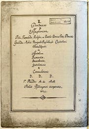 Die Noten von Pater Placidus Andermatt aus der Klosterbibliothek Einsiedeln. Sie sind 1955 wiederentdeckt worden.