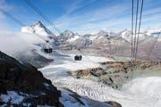 Ausblick auf den Gletscher. (Bild: Dominic Steinmann / Keystone (Zermatt, 29. September 2018))