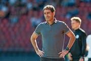 FCL-Trainer René Weiler hat erwartet, dass es seinem Team im ersten Saisonviertel noch nicht rund läuft. (Bild: Martin Meienberger/Freshfocus (Zürich, 23.September 20)