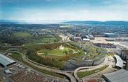 Das Projekt «The Circle» beim Flughafen Zürich mit Hotels, Restaurants und Kongresszentrum soll 2020 eröffnet werden. (Bild: Visualisierung: Flughafen Zürich AG)