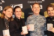 Die Hechte am Swiss Music Award. (Bild: Lara Abderhalden)
