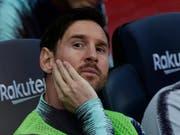 Musste zuerst auf der Bank Platz nehmen: Barça-Superstar Lionel Messi (Bild: KEYSTONE/AP/MANU FERNANDEZ)