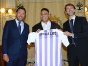 Ronaldo (Bildmitte) ist neu Mehrheits-Eigentümer bei Valladolid (Bild: KEYSTONE/EPA EFE/NACHO GALLEGO)